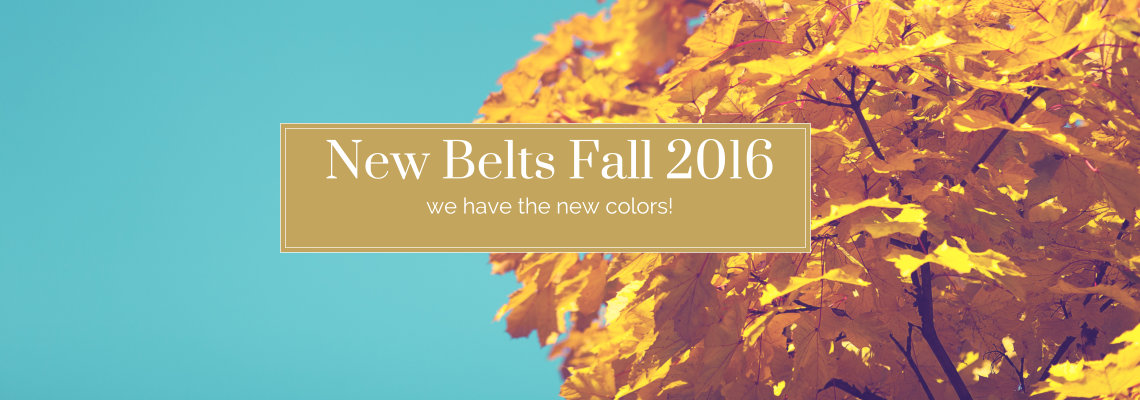 Fronhofer New Belts Fall 2016