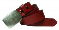 FRONHOFER belt 1.5  width genuine eco leather with timeless, sportive buckle