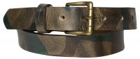 FRONHOFER Camouflage Belt brass buckle leather military look Camo belt