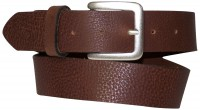 BOGIE: classic leather belt with matt silver square buckle