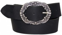 TRADITIONAL BELT Fronhofer folk costume belt + floral buckle, real leather
