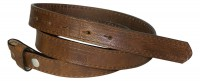 FRONHOFER skinny snap on belt 0.78   (2 cm) | strong genuine leather | organic leather