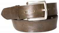 JAMIE: Natural eco-leather belt with a striking silver-plated buckle, interchangeable