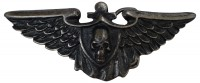ROCKY Rock-chic motif buckle with spread eagle wings, silver buckle, 1.5 /4cm