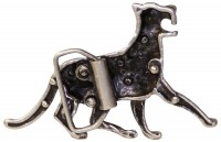 PANTHER II Belt buckle, wildcat buckle, rhinestones, silver panther buckle, for 1.5 /4cm belts
