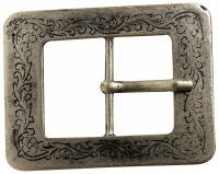 FRONHOFER Antique silver belt buckle with floral pattern, for women 1.5 /4cm 18192