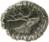 STAG traditional antique silver belt buckle, stag head buckle for 1.5 /4cm belts