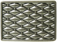 FRONHOFER Silver belt buckle, quilted pattern with rhinestones, women 1.5 /4cm